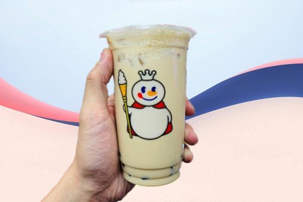 蜜雪冰城奶茶实拍