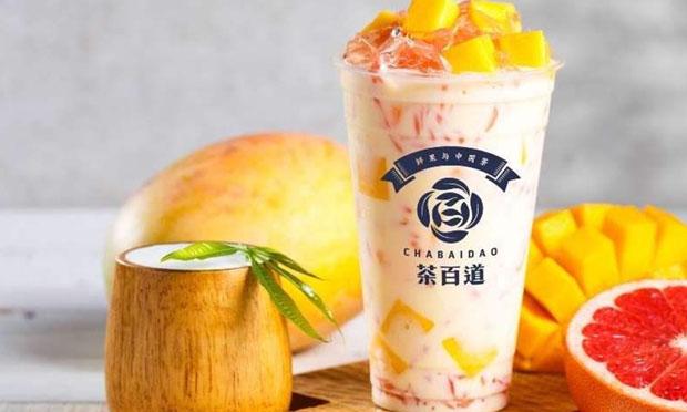茶百道奶茶的品牌宣传图