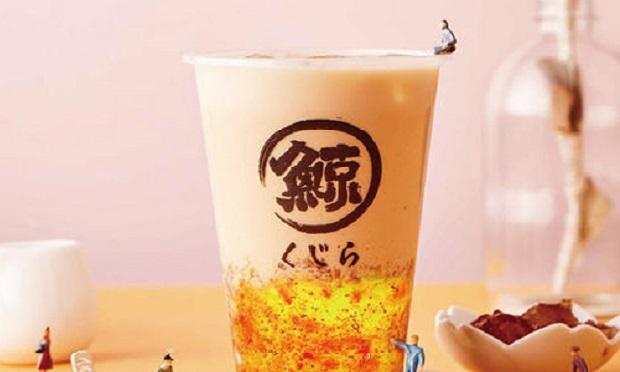琉璃鲸的奶茶实拍图