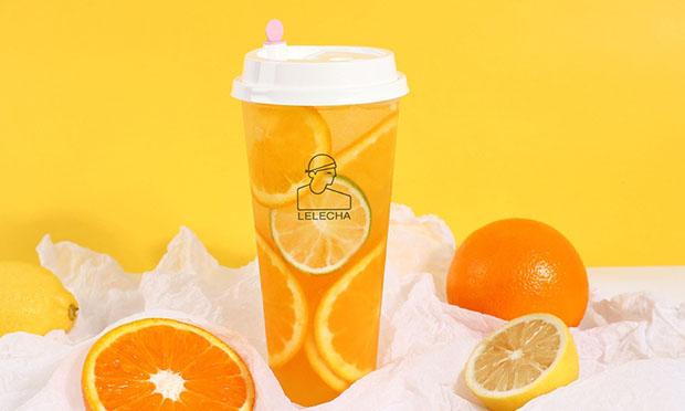 乐乐茶的橙子饮品图