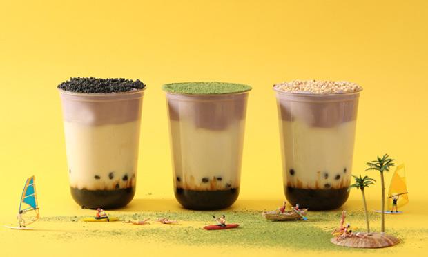 实验室奶茶产品宣传图