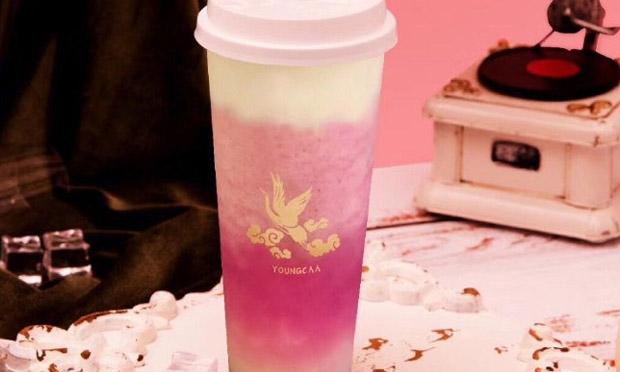 泱茶的奶茶实拍图