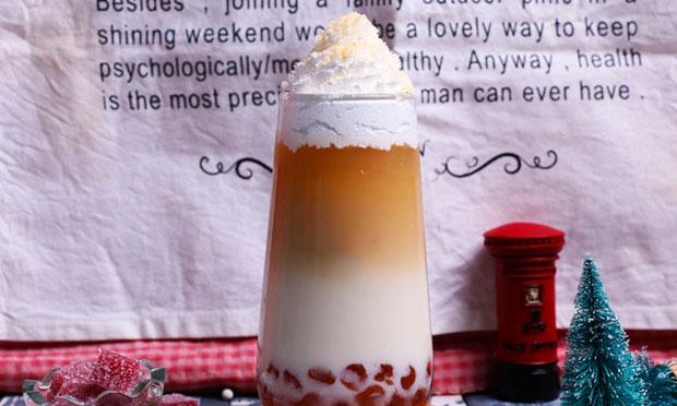 台北吸客奶茶产品宣传图
