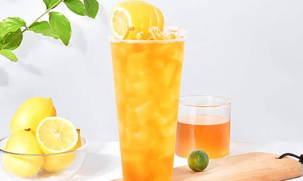 黄柠檬蜜桔茶饮