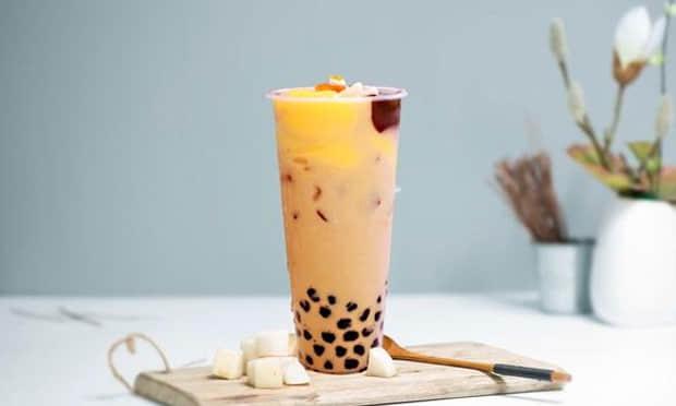 湾仔岛奶茶椰果波霸水果奶茶