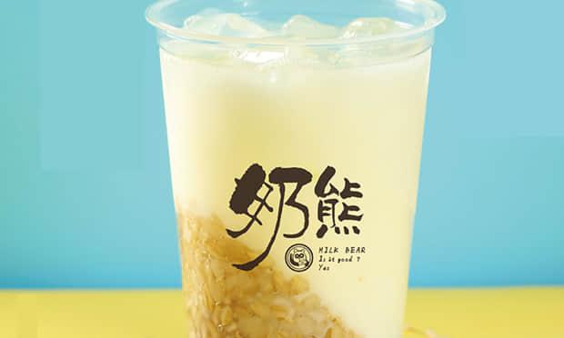 奶熊奶茶产品实拍图