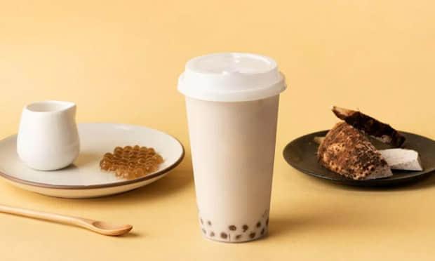 街景奶茶的茶饮产品宣传图