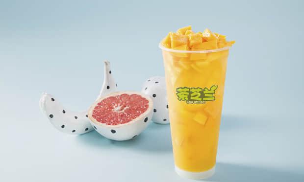 茶芝兰的芒果饮品展示图