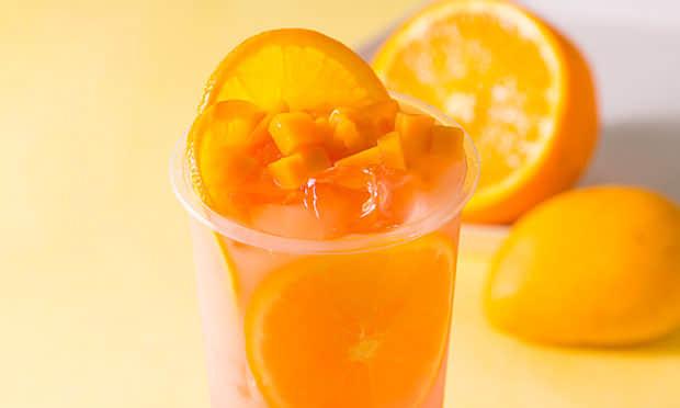 西柠茶饮橙子芒果茶饮