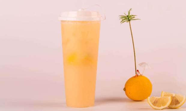 小茶堂奶茶鲜榨橙汁