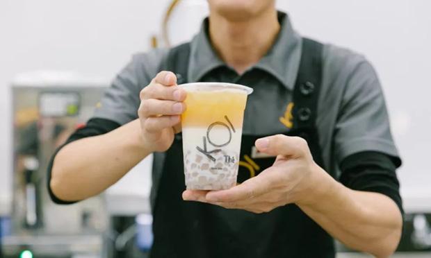 koi奶茶产品实拍图