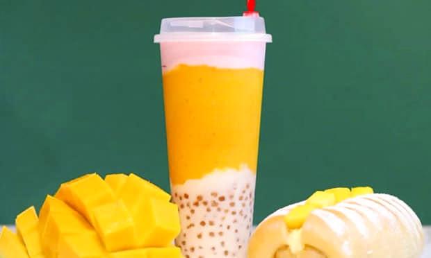 黑潮奶茶饮品宣传图