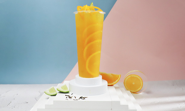 街景奶茶的橙味饮品展示图